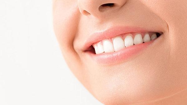 Closeup of person's smile